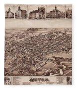 Map Of Dover 1885 Fleece Blanket