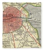 Map Of Dublin Fleece Blanket