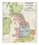 Map Of England 9th Century.Map Of England In The Ninth Century Drawing By Vintage Design Pics