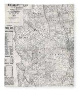 Map Of Franklin County Ohio 1883 Fleece Blanket
