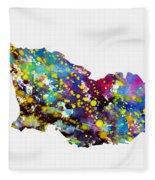 Map Of Georgia-colorful Fleece Blanket