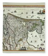 Map Of Holland 1682 Fleece Blanket