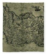Map Of Ireland 1771 Fleece Blanket
