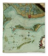 Map Of Jamaica 1756 Fleece Blanket