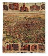Map Of Los Angeles 1891 Fleece Blanket