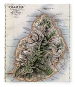 Map Of Mauritius Fleece Blanket