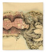 Map Of Montevideo 1808 Fleece Blanket