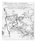 Map Of North America, Plotting The Expeditions Of Sir Alexander Mackenzie In 1789 And 1798 To The Ar Fleece Blanket