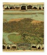 Map Of Oakland 1900 Fleece Blanket