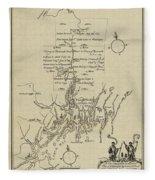Map Of Plymouth Fleece Blanket