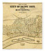 Map Of Saint Paul 1852 Fleece Blanket