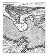 Map Of San Juan, 1766 Fleece Blanket