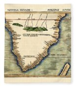 Map Of South Africa 1513 Fleece Blanket