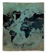 Map Of The World Fleece Blanket