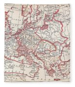 Map: Thirty Years War Fleece Blanket