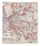 Map: Thirty Years War Fleece Blanket