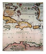 Map: West Indies Fleece Blanket