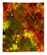 Maple Abstract Fleece Blanket