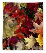 Maple Leaf Colors Fleece Blanket
