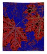 Maple Mania 15 Fleece Blanket