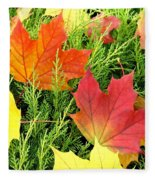 Maple Mania 5 Fleece Blanket