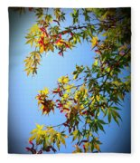 Maple Seeds In September Fleece Blanket