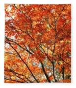 Maple Tree Foliage Fleece Blanket
