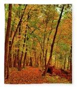 Maple Woods Trail 2 Fleece Blanket