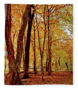 Maple Woods Trail 3 Fleece Blanket