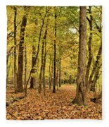 Maple Woods Trail Fleece Blanket