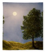 Maples In Moonlight Fleece Blanket