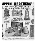 Mappin Brothers Ad, 1895 Fleece Blanket