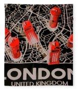 Maps From London Town Fleece Blanket