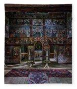 Maramures Romania Church Interior Fleece Blanket