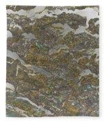 Marble Bark Colored Abstract Fleece Blanket