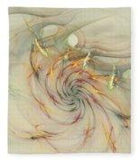 Marble Spiral Colors Fleece Blanket