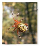 Marbled Orb Weaver Fleece Blanket
