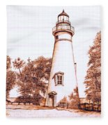 Marblehead Lighthouse Fleece Blanket