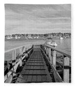 Marblehead Massachusetts Dock Fleece Blanket