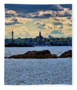 Marblehead Points To The Ocean Fleece Blanket