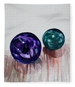 Marbles Of My Reflection Fleece Blanket
