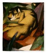 Marc: The Tiger, 1912 Fleece Blanket