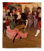 Marcelle Lender Dancing The Bolero In Chilperic Fleece Blanket