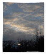 March Clouds In Dawn Sky Fleece Blanket