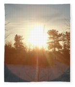 March Sunrise Circle Fleece Blanket