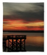 March Sunset Fleece Blanket