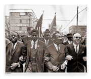 March Through Selma Fleece Blanket