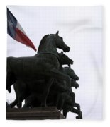 Marching Horses Fleece Blanket