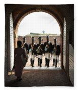 Marching Off On Detail At Fort Mchenry Fleece Blanket