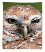 Marco Burrowing Owl - I Know What You're Thinking Fleece Blanket